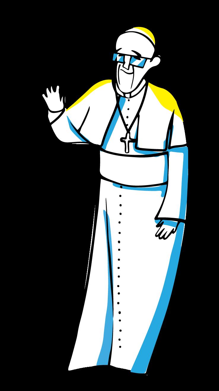 papież Franciszek - ilustracja